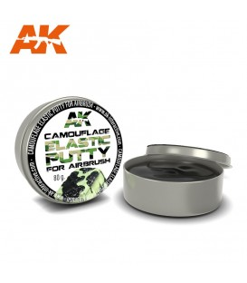 AK8076 Camouflage Elastic Putty 80 gr. Masilla de Enmascaramiento de Camuflaje