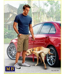 What he really thinks of your car. Bart and Radley (dog)-24049
