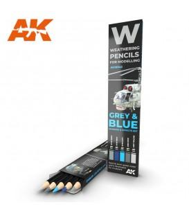 AK10043 Set 5 lapis weathering Cinza e azul