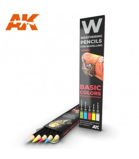 AK10045 5 Weathering Pencils set Basic Colors