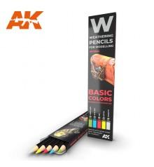 AK10045 Set 5 llapis weathering Basic Colors