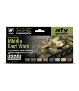 Set Vallejo Model Air 8 u. (17 ml.) Middle East Wars (1967 to Present)
