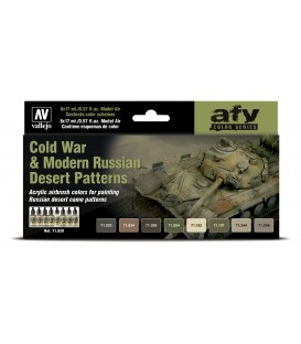 Set Vallejo Model Air 8 u. (17 ml.) Cold War & Modern Russian Desert Patterns