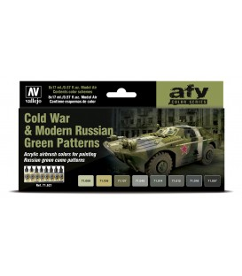 Set Vallejo Model Air 8 u. (17 ml.) Cold War & Modern Russian Green Patterns