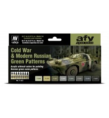 Set Vallejo Model Air 8 u. (17 ml.) Cold War & Modern Russian Green Patterns