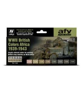 Set Vallejo Model Air 8 u. (17 ml.) WWII British Colors Africa 1939-1943