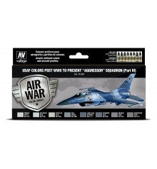 71618 Set Vallejo Model Air 8 u. (17 ml.) USAF colors post WWII to present Aggressor Squadron Part III