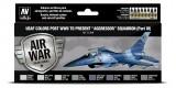 "71616 Set Vallejo Model Air 8 u. (17 ml.) USAF colors post WWII to present ""Aggressor"" Squadron Part I"