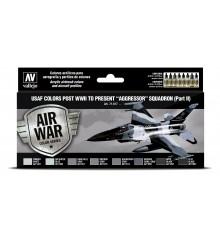 "71617 Set Vallejo Model Air 8 u. (17 ml.) USAF colors post WWII to present ""Aggressor"" Squadron Part II"