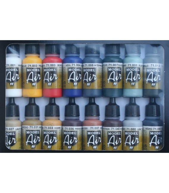 Set Vallejo Model Air 16 u. (17 ml.) Basic Colors.
