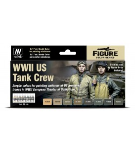 Set Vallejo Model Color 8 u. (17 ml.) WWII US Tank Crew