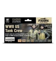 Set Vallejo Model Color 8 u. (17 ml.) WWII US Tank Crew