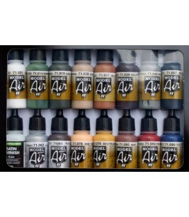 Set Vallejo Model Air 16 u. (17 ml.) Colors Ferroviaris.