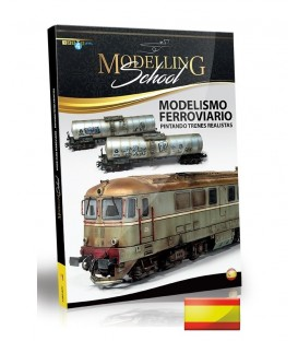 Libro Castellano Modelling School - Modelismo Ferroviario: Pintando Tenes Realistas