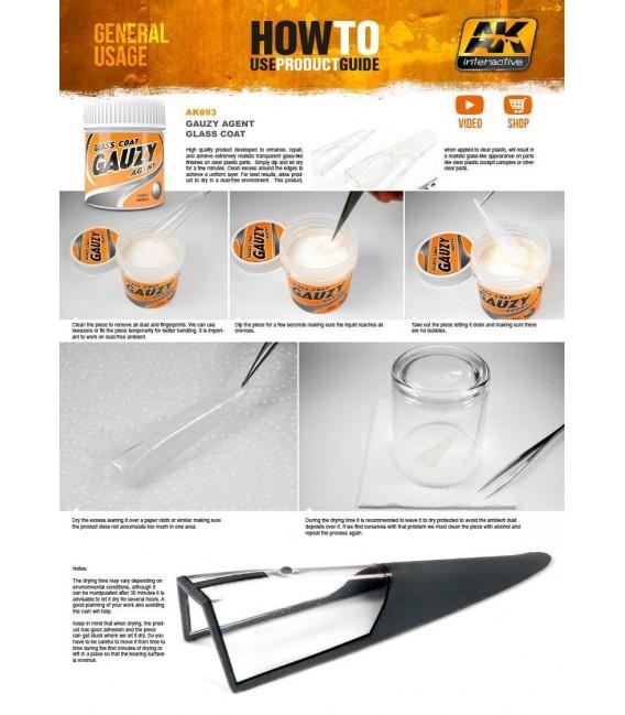 AK893 GAUZY Agent glass coat 100 ml.