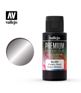 62053 Metallic Black Vallejo Premium Color (60 ml.)