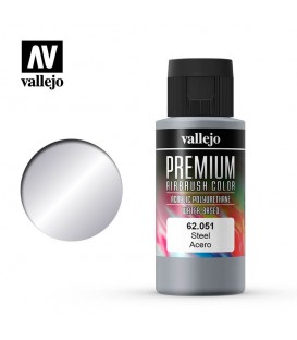 62051 Steel Vallejo Premium Color (60 ml.)
