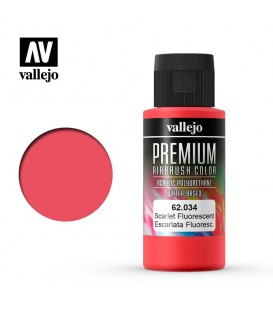 62034 Escarlate Fluo Vallejo Premium Color (60 ml.)