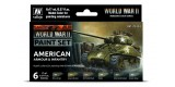 Set Vallejo Model Color 6 u. (17 ml.) WWII American Armour & Infantry Wargames Color Series