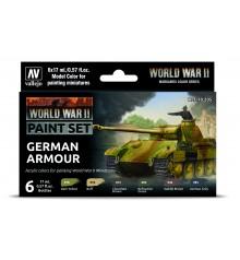 Set Vallejo Model Color 6 u. (17 ml.) WWII German Armour Wargames Color Series