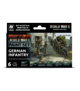 Vallejo Model Color 6 u. Set (17 ml.) German Infantry Wargames Color Series