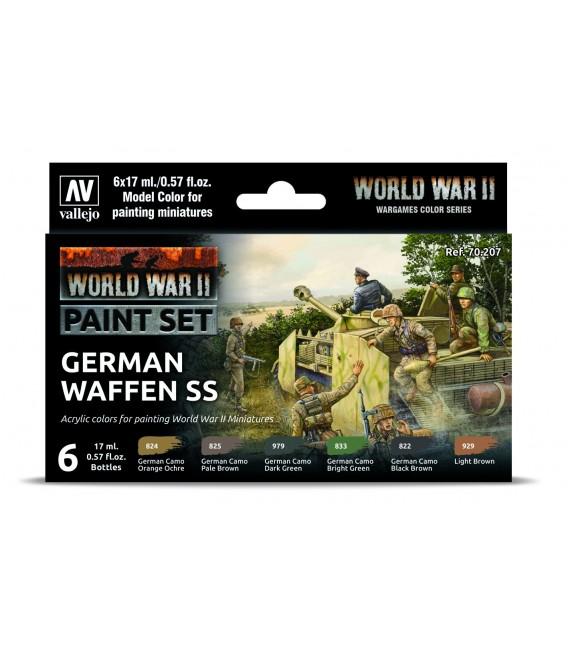 Set Vallejo Model Color 6 u. (17 ml.) WWII German Waffen SS Wargames Color Series