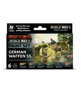 Set Vallejo Model Color 6 u. (17 ml.) WWII German Waffen SS Wargames Color Series