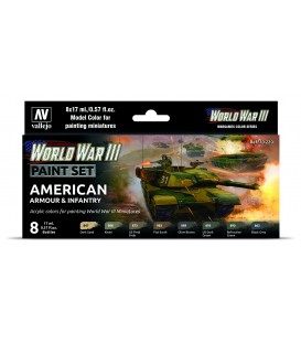 Set Vallejo Model Color 8 u. (17 ml.) WWIII American Armour & Infantry Wargames Color Series