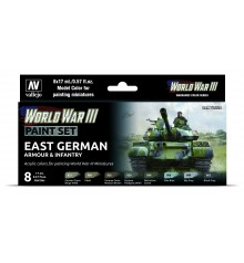 Set Vallejo Model Color 8 u. (17 ml.) WWIII East German Armour & Infantry Wargames Color Series