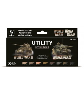Set Vallejo Model Color 8 u. (17 ml.) Utility Paint Set WWII & WWIII