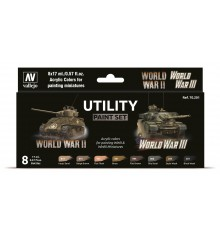 Set Vallejo Model Color 8 u. (17 ml.) Utility Paint Set WWII & WWIII