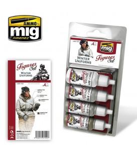 A.MIG-7020 Uniformes d'Hiver Paint Set 4 u. 17 ml