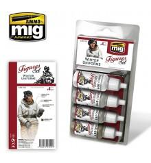 A.MIG-7020 Uniformes d'Hivern Paint Set 4 u. 17 ml