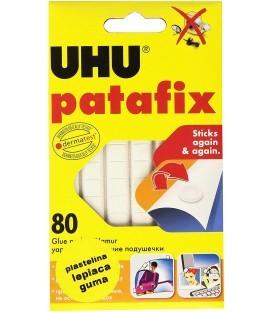 Masilla adhesiva blanca precortada reposicionable Patafix UHU