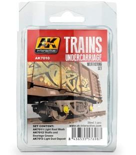 AK7010 Trains Undercarriage Weathering Set 3 u. 35 ml