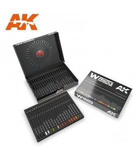 AK10047 Set 37 lapices weathering De Luxe Edition Box