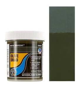 Olive Drab CW4534 Water Undercoat 118 ml. Water System by Woodland Scenics