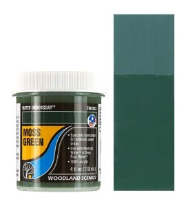 Moss Green CW4533 Water Undercoat 118 ml. Water System by Woodland Scenics