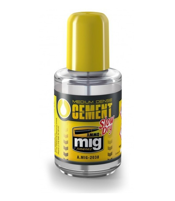 Medium Dense Cement Slow Dry AMMO MIG-2038 30 ml.