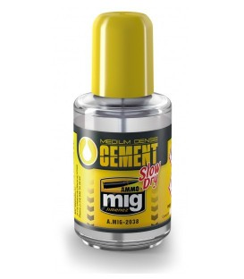 Adhesive Medium Dense Cement Slow Dry AMMO MIG-2038 30 ml.