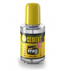 Adhesive Medium Dense Cement Slow Dry AMMO MIG-2038 30 ml.