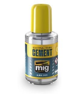Adesivo Extra Thin Cement AMMO MIG-2025 30 ml.