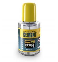 Adhesive Extra Thin Cement AMMO MIG-2025 30 ml.
