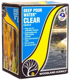 Deep Pour Water - Clear - Transparent - CW4510 Water System by Woodland Scenics