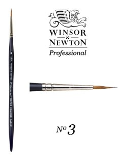 Winsor & Newton Series Professional Artist Sable Brush 3