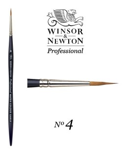 Pinceau Winsor & Newton series Professional Artist poil Martre 4