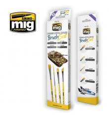 A.MIG-7604 Streaking and vertical surfaces Brush Set