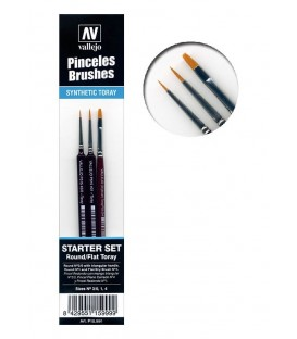 Model paint brush set (3 pc) Vallejo