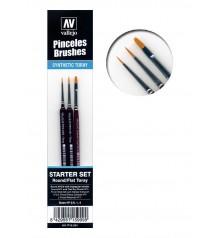 Model paint brush set (3 pc) Vallejo