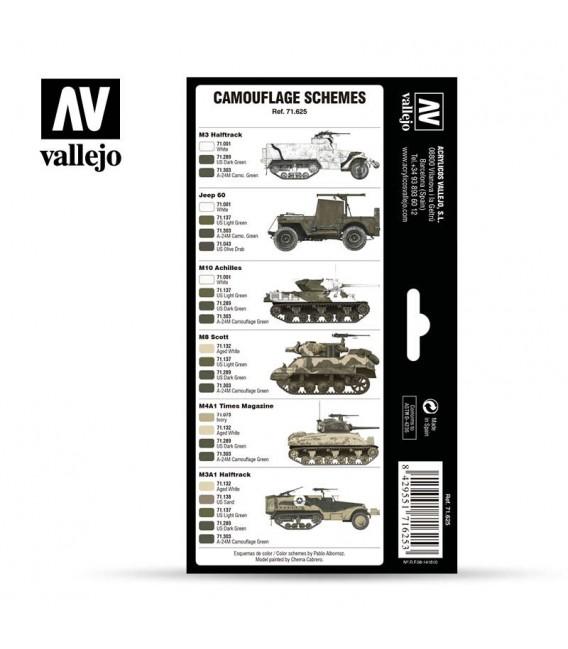 Set Vallejo Model Air 8 u. (17 ml.) WWII US Army Europe & North Africa 1942-1945